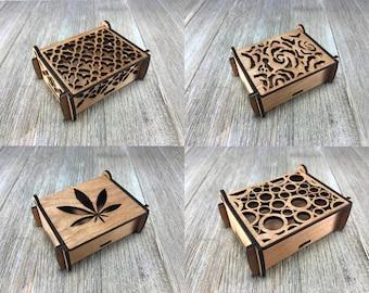 Laser cut puzzle box 1,2,3,4