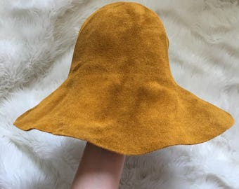 70s Slouchy/Floppy Seude Hat