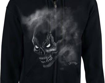 Zipper Hoodie Fog Skull