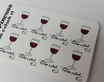 Wine o'clock Stickers