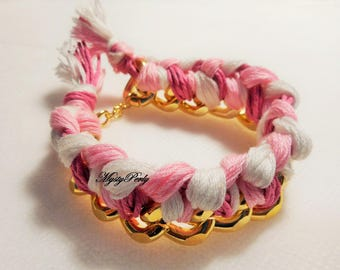 "Braided chain bracelet ""Rose Gold"""