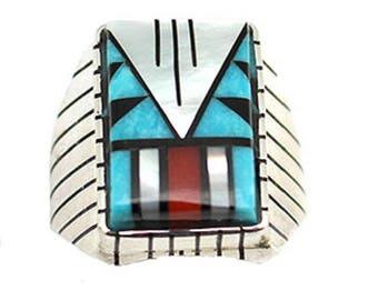 Inlay Multi Color Men's Ring