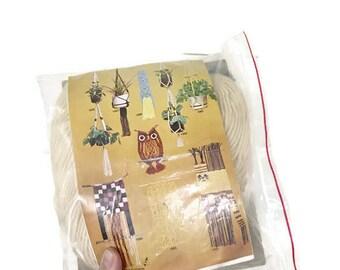 Vintage Tiered Macrame Planter Kit / Beige / Artcraft Concepts