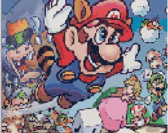 Super Mario Bros 3: Cross Stitch Pattern