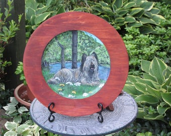 Hand Painted Wood Plate of Animals,custom of your animals,Dogs,Cats,Horses etc.Creativedogwood