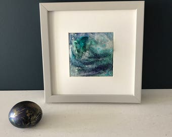 Original Needle Felt Picture. Seascape - 'The Tempest'. Felted. Felt Art.