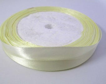 23 m spool light yellow 10mm satin ribbon