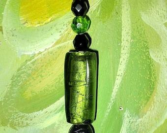 ღ bag charm and glass beads ღ / unique