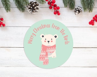 Personalised Family Christmas Stickers - Love From The Family - Christmas Present Stickers - Christmas Gift Wrap - Festive Stickers
