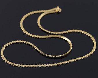 "14k Serpentine Link Chain Necklace Gold 17.75"""