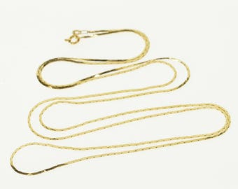 """14k 0.8mm Pressed Fancy Link Chain Necklace Gold 29.6"""""""