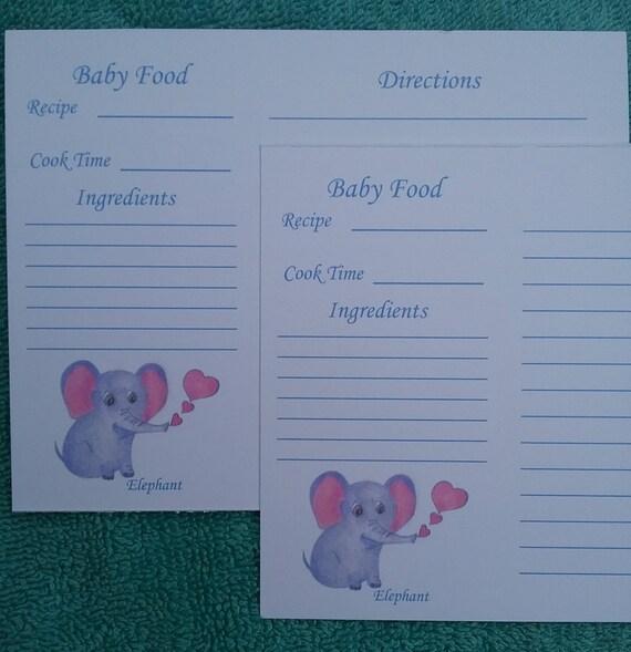 Recipe cards baking recipe cards elephant baby food recipe recipe cards baking recipe cards elephant baby food recipe cards baby food recipe cards elephant recipe cards art 16 piece set from forumfinder Gallery