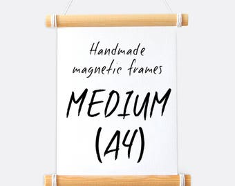 A4 Frame - Handmade Magnetic Hanging Frame & Twine
