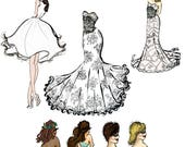 Hairstyle or Dress Design Change for Semi Custom Prints ADD ON