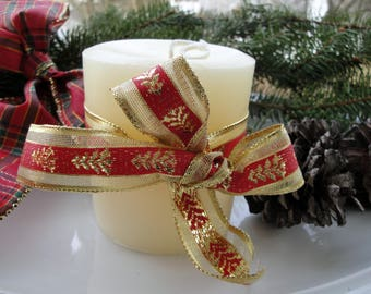 """Pillar Candle 100% Pure Beeswax White 
