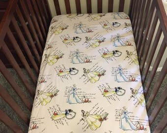 Princess Custom Fitted Crib Sheet