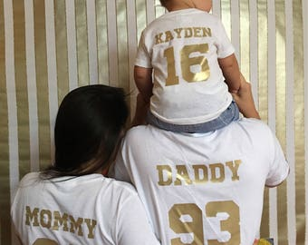 Family Birthday Shirts (Available in various shirt and vinyl colors)