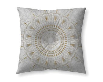 Gold and Marble mandala - floor pillow