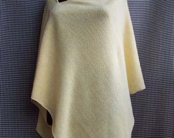 knit lightly glitter sparkly yellow poncho wrap spring autumn cool wedding