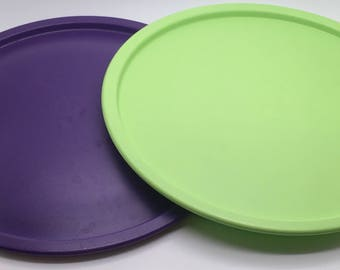"Tupperware One Touch Canister Lid Purple Or Green F Seal 3420 Round Replacement Cover 9 1/2 ""  You Choose Colour"