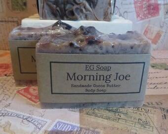 Morning Joe Bar Soap,  Exfoliating Cocoa Butter Soap, Coffee Soap,Exfoliating Soap,Conditioning Soap
