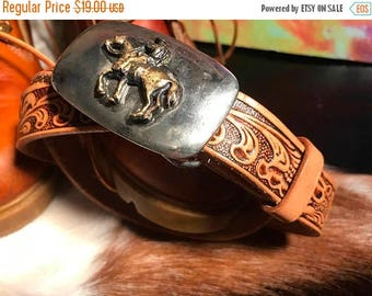 Sale Sale Sale Vintage Justin size 28 cowboy leather belt