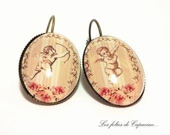 •CUPIDON• Cabochon Stud Earrings