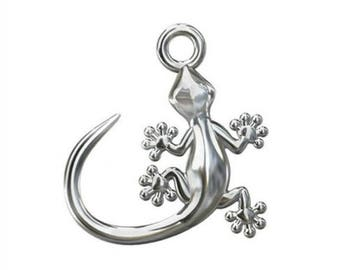 Gecko Charm Sterling Silver - 13mm