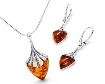 Baltic amber set on 925 sterling silver