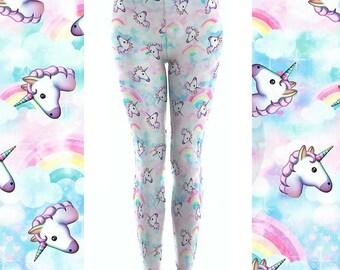 Unicorn Leggings / Womens Leggings / Adult Leggings / Cute Leggings/ For Women / Gift Idea / Gift For Her / Unicorn Pants / Printed Leggings