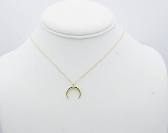 Infinity Gold Tusk Horn Adjustable Choker and Necklace