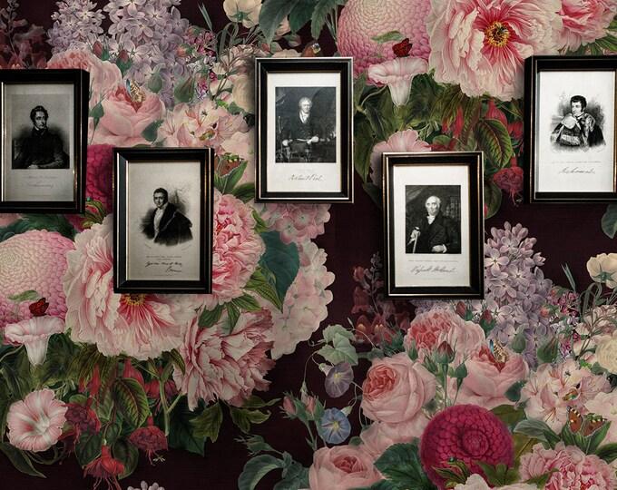 Velvet Floral Wallpaper - Velvet Flowers Wallpaper - Dark Wallpaper