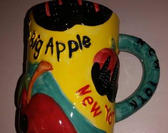 New York Coffee Mug / Big Apple Coffee Mug / Coffee Cup / NY Mug / NYC / Tourist Mug / New York City / CIJ / New York / Apple / Coffee Mug