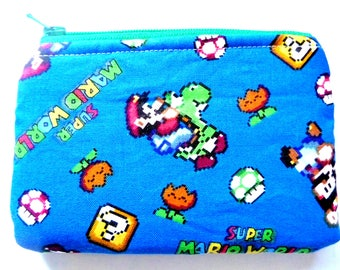 New! coin pouch made from video game fabric