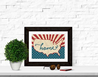 Home 10x8 Patriotic Printable