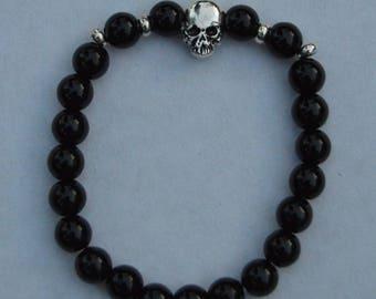 Bracelet stone beads skull