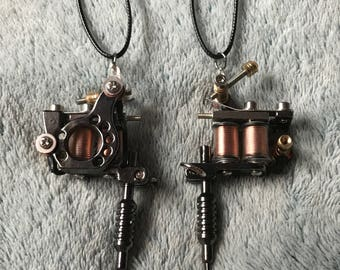 Miniature Tattoo Machine Necklace