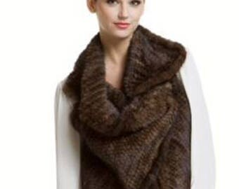 Luxurious Vintage Brown Mink Fur Vest