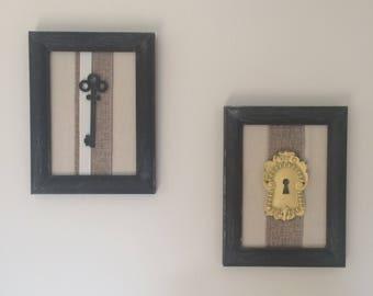 Key and Lock Framed Wall Art