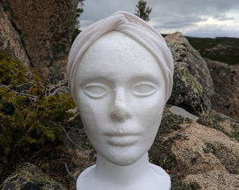 Upcycled Natural Beige Turban