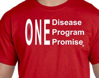 NA - One Disease - One Program   - T-shirt - Color Options - S-5X - 100% cotton - Free Shipping - Narcotics Anonymous