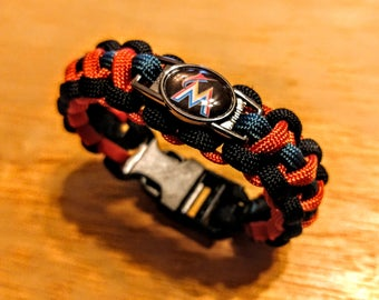 Miami Marlins Inspired Paracord Bracelet
