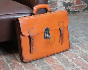 English solid leather lawyers briefcase in superb condition