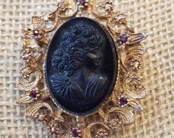 Vintage Cameo brooch, cameo brooch, vintage brooch, Cameo, Brooch