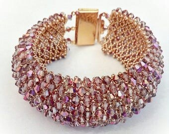 Multicolored crystals and gold bracelet Capricho