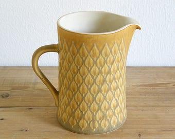 Vintage Relief Kronjyden pitcher jug big.Jens Quistgaard.Danish mid century.Danish modern.Vintage retro stoneware.Large pitcher milk jug