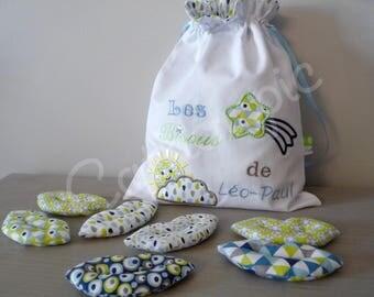 "Handbag ""Léo-Paul"" kisses and its 7 kisses, kiss bag"