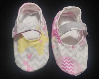 Elephant Mary Jane Baby Shoes