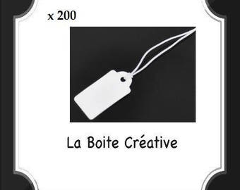 200 tags price with wire and paper white 23 x 13 mm