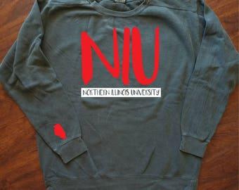 School/University Comfort Colors Customized Sweatshirt